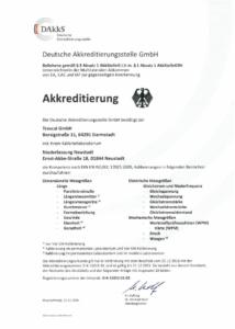 Akreditace MWQ - Trescal GmbH